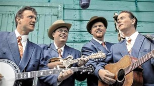 Muziekgroep of band in retro kleding - Blue Grass Boogiemen